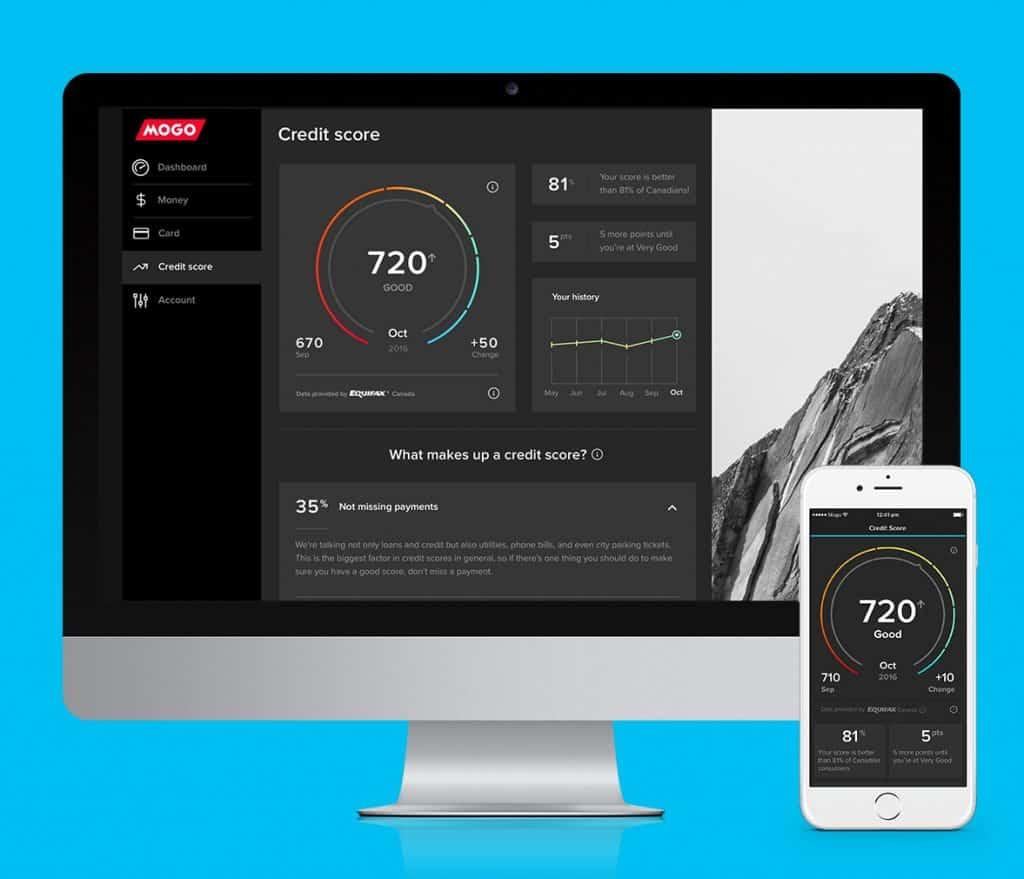mogo credit score dashboard app comparewise 1 - Comparewise