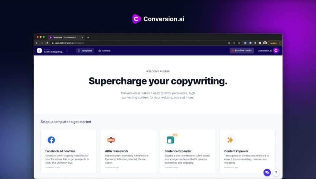 conversion.ai dashboard comparewise - Comparewise