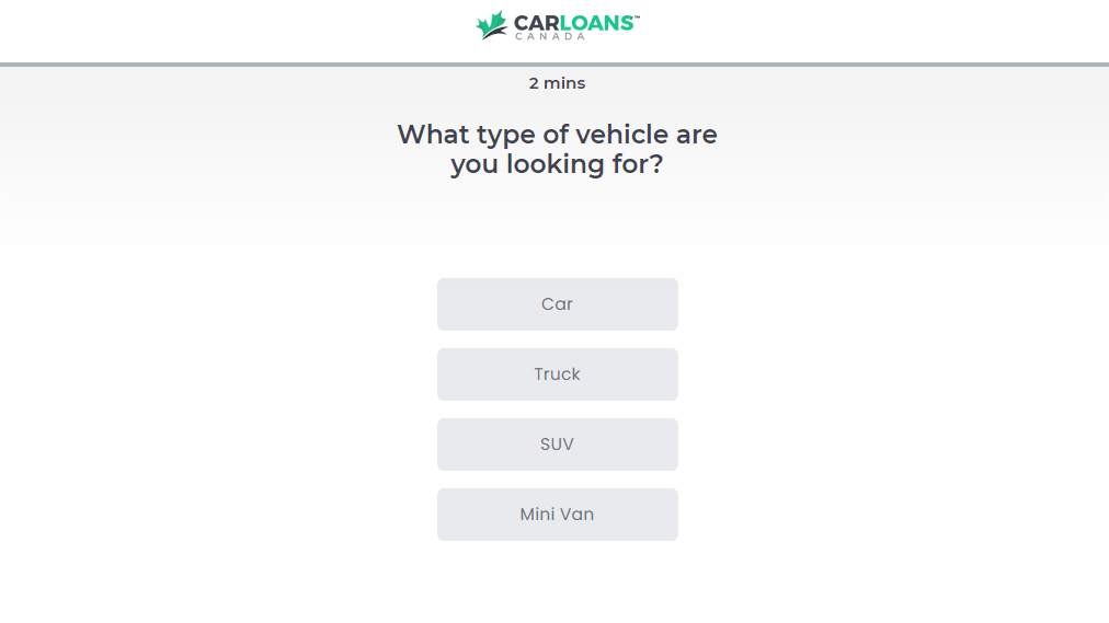 Car Loans Canada Review Vehicle Type - comparewise